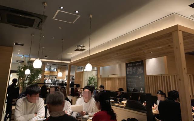 Packed soba noodle restaurant in Japan