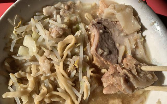 Thick pork chunks at Ramen Jiro