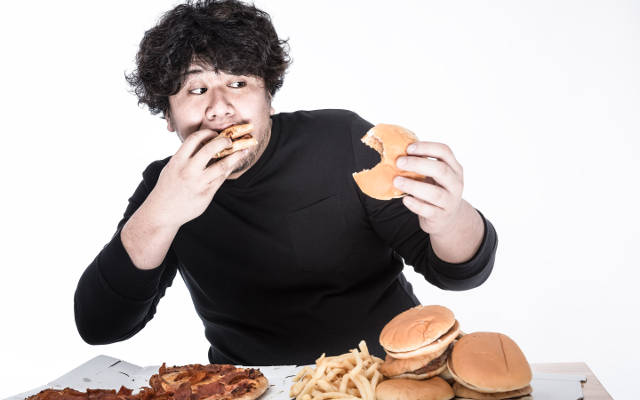 Man over eating